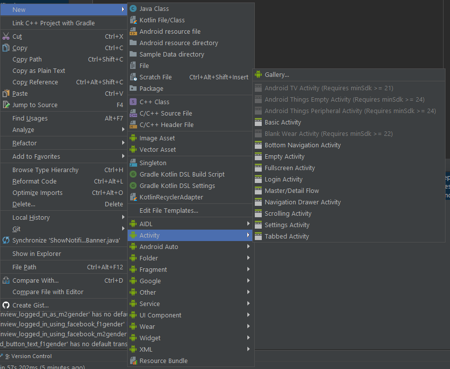 Create your own file templates in android studio zdenk krobk everytime you create new file using new menu you are creating files based on file templates maxwellsz